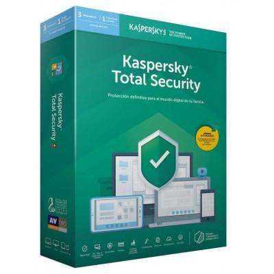 Licencia 1 Año Kaspersky Total Security 2020 3 Dispositivos
